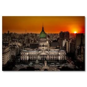 Αφίσα (ήλιος, κτίρια, ηλιοβασίλεμα, αρχιτεκτονική, αυτοκίνητα)